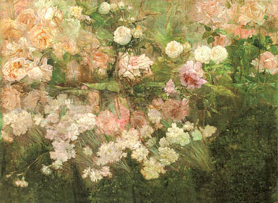 Garden In May Art Print by Maria Oakey Dewing
