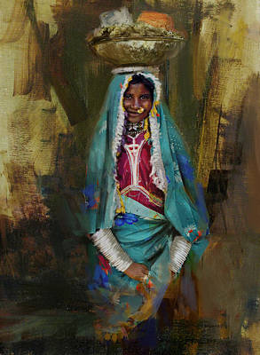 Of Hijabs Painting - 030 Sindh by Maryam Mughal