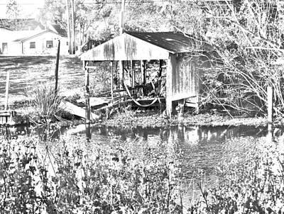 03192015 Boat Shed Lafourch Parish Art Print