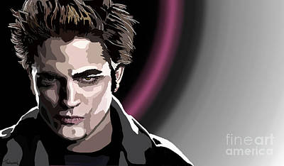 Robert Pattinson Painting - 032. And So The Lion Fell In Love With The Lamb by Tam Hazlewood