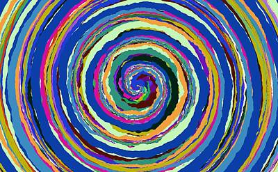 Drawing - 0320 - Spiral by REVAD David Riley