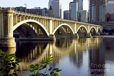 Minnesota Landscape Wall Art - Photograph - 0333 3rd Avenue Bridge Minneapolis by Steve Sturgill