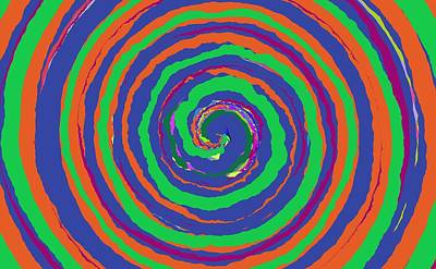 Painting - 0356 - Spiral by REVAD David Riley
