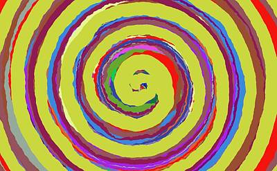 Painting - 0369 - Spiral by REVAD David Riley