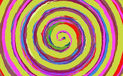 Painting - 0370 - Spiral by REVAD David Riley