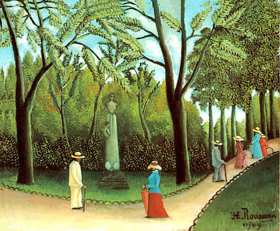 Stature Painting - Luxembourg Garden by Henri Rousseau