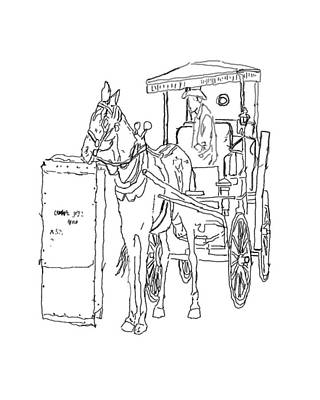 Horse And Buggy Drawing - 04061025 Horse And Buggy by Garland Oldham