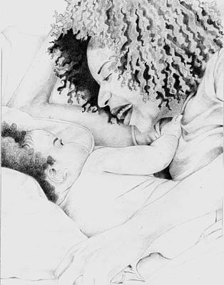 Afro American Art Drawing - 042 by Candace Williams