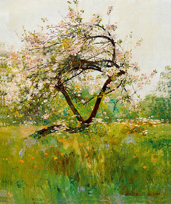 Heart Images Painting - Peach Blossoms by Childe Hassam