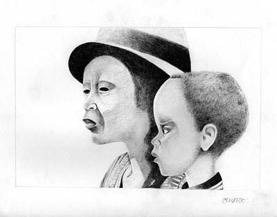 Afro American Art Drawing - 044 by Candace Williams