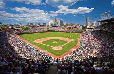 Photograph - 0443b Wrigley Field by Steve Sturgill