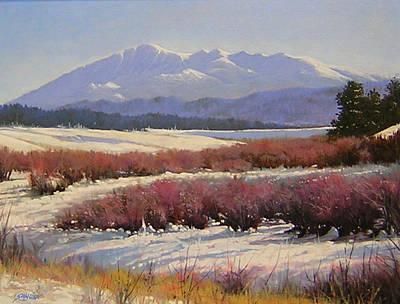 Pikes Peak Painting - 051209-1814  Pikes Peak - North View by Kenneth Shanika