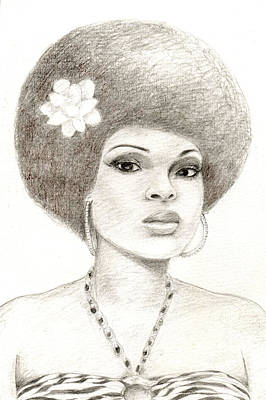 Afro American Art Drawing - 052 by Candace Williams