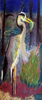 Digital Art - 052916 Blue Heron by Garland Oldham
