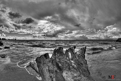 Black And White Photograph - 06 High Tides Bw by Michael Frank Jr