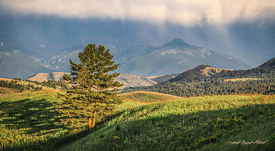 Photograph - #0613 - Absaroka Range, Paradise Valley, Southwest Montana by Heidi Osgood-Metcalf