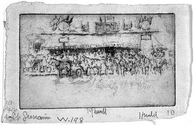 Drawing - Pennell Cafe Barcadere, 1893 by Granger