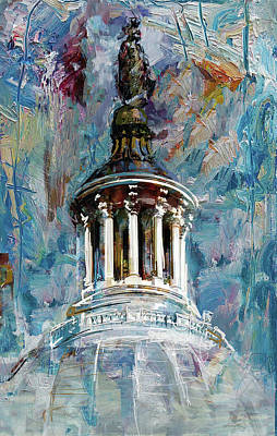 City Scenes Painting - 063 United States Capitol Dome by Maryam Mughal