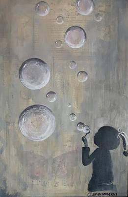 Painting - #967 Bubbles by Linda Skibinsky