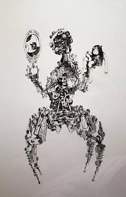 07 Pen And Ink Illustration Reflection Original by Samridh Mukhiya