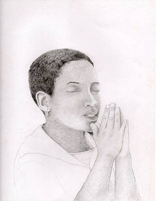 Afro American Art Drawing - 070 by Candace Williams