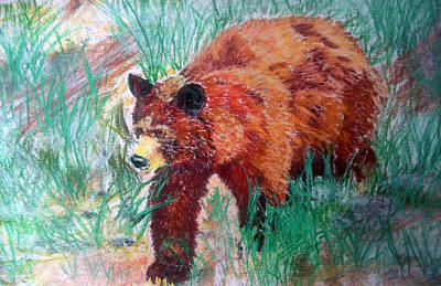 Painting - 073015 Alaska Black Bear by Garland Oldham