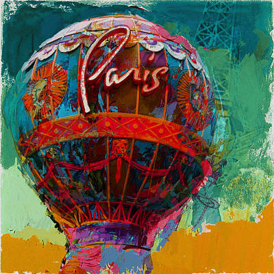 Painting - 075 The Iconic Paris Casino Balloon by Maryam Mughal