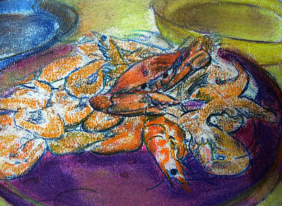 Digital Art - 080215 Crab And Shrimp Boil by Garland Oldham