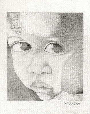 Afro American Art Drawing - 081 by Candace Williams