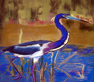 Painting - 081315 Heron by Garland Oldham