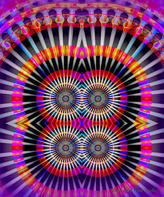 Round Digital Art - #082320151 by Visual Artist Frank Bonilla