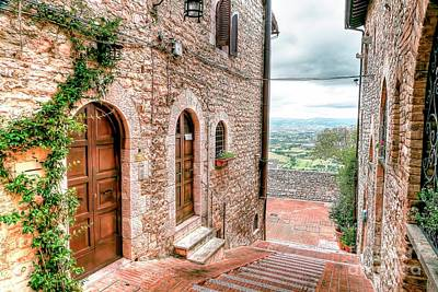 0874 Assisi Italy Art Print by Steve Sturgill