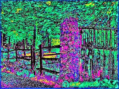 08f  Fences Of Maine Art Print by Ed Immar