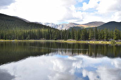 Photograph - Echo Lake Reflection Mnt Evans Co by Margarethe Binkley