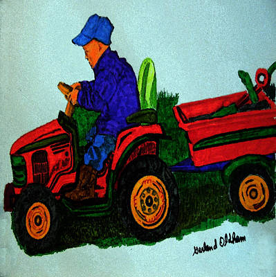 Painting - 090915 Plowing Back Fourty by Garland Oldham