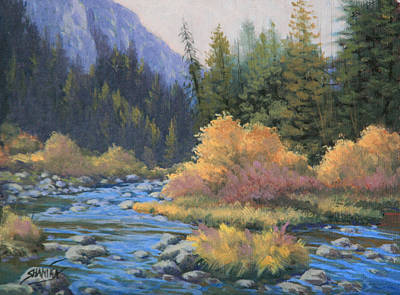 090917-68  Canyon Stream Art Print by Kenneth Shanika