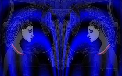 095 - Blue Haze   Art Print by Irmgard Schoendorf Welch