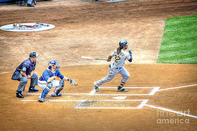 Pittsburgh Pirates Photograph - 0990 Base Hit - Mccutchen by Steve Sturgill