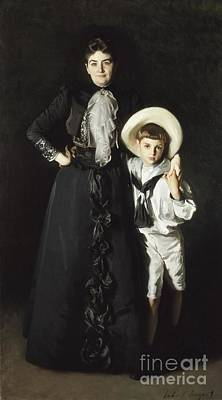 Singer Painting - 0portrait Of Mrs. Edward L. Davis And Her Son by Celestial Images