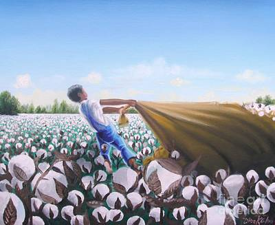 The Cotton Field Painting -     A Long Day by Chuck Collins