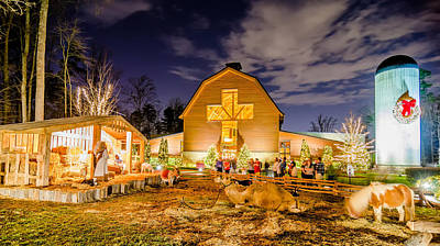Popular Rustic Neutral Tones -  Christmas Celebration At Billy Graham Library by Alex Grichenko