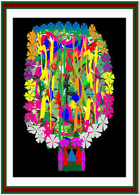 Flower Bouquet  Colorful Abstract Art For Interior Decoration  By Navinjoshi Art Print by Navin Joshi