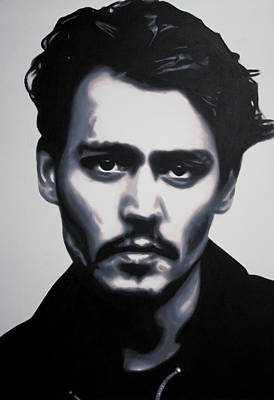 Painting - - Johnny - by Luis Ludzska