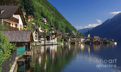 Mixed Media -  Riverfront  Reflection Austria  by Heinz G Mielke