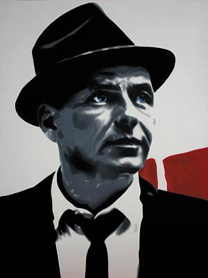 Frank Sinatra Painting - - Sinatra - by Luis Ludzska