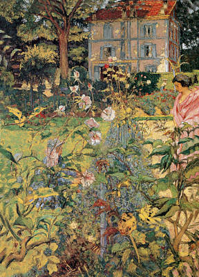 Painting - Morning In The Garden At Vaucresson by Edouard Vuillard