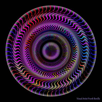 Round Digital Art - #062820159 by Visual Artist Frank Bonilla