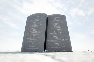 Abandoned Digital Art - 10 Commandments In Desert by Allan Swart