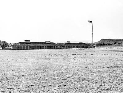 Photograph - 1009.508 Fort Davis Texas Classic Black And White by M K  Miller