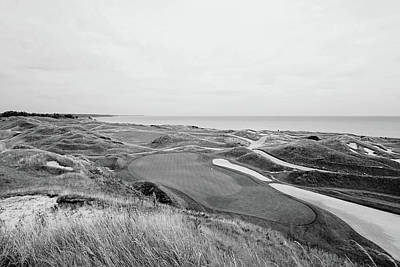 11th Green Photograph - 11th Green Par 3 Irish Course - Bw by Scott Pellegrin